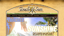 Robert Breisch Portfolio Work - Touch of Sun Tanning Salon and Company Website